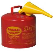 5 Gallon -  Eagle Safety Gas Can - Flammables - WITH Funnel