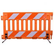 ada pedestrian barricade with reflective sheeting