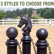 3 styles of decorative bollards