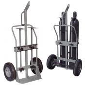 Double Cylinder Hand Truck 16in Pneumatic Wheels Hoist Ring A35034J