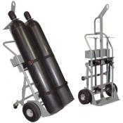 Double Cylinder Hand Truck, Pneumatic Wheels, Casters, Hoist Ring, Tool Tray A35022J