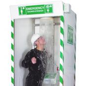 emergency shower and eyewash station cubicle