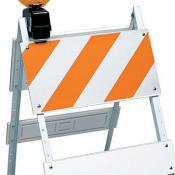 folding barricade plastic 12in top panel