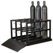 Gas cylinder pallet
