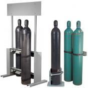 Gas cylinder stands and bracket holders