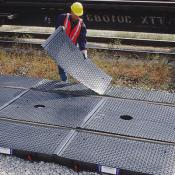 railroad track pan 9ft system with covers A9596U