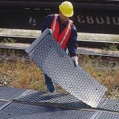 railroad track pan side pan cover A9581U