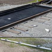 railroad trackpan drainage manifold