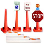 safety cone rail and sign mount system