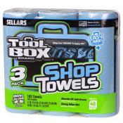 blue shop towel rolls 3-pack A54483T