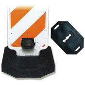 step-n-lock vertical panel barricade 43lb rubber base