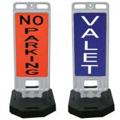 step-n-lock vertical panel barricades with messaging