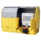 IBC Outdoors Spill Pallet; Two IBC/Tote; Polyethylene Platform No Drain Plug