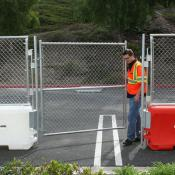 water wall barrier fence gate