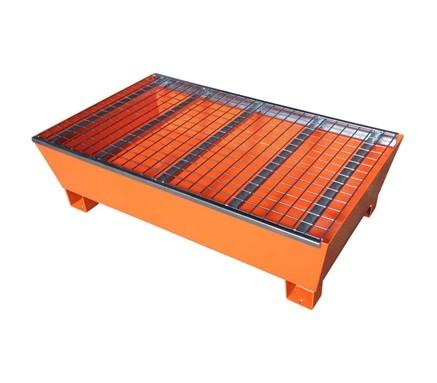 Two-Drum Steel Pallet, Orange