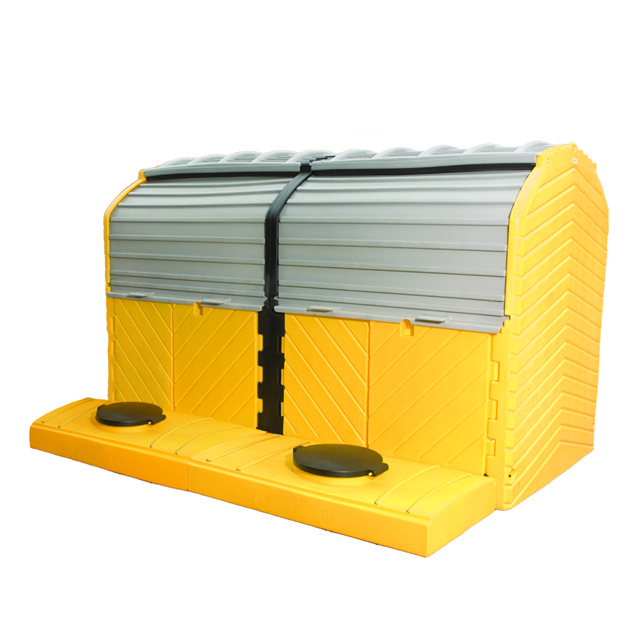 A1165U Outdoors Spill Pallet (2 unit covered spill pallet)
