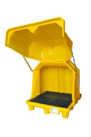 A1080U & A1081U Spill Pallet (four drum lockable lift top)