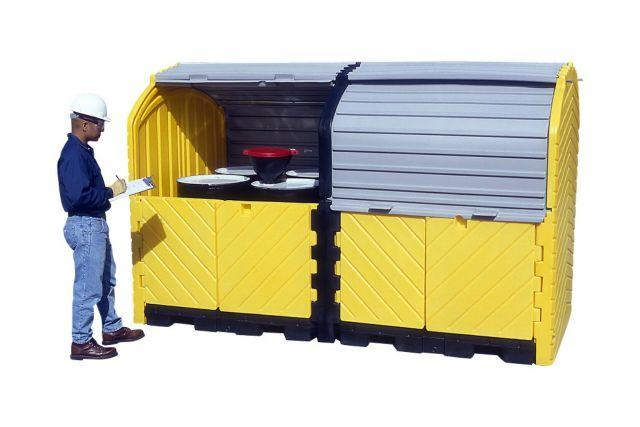 A9650U Eight Drum Storage (roll top, lockable, no drain)