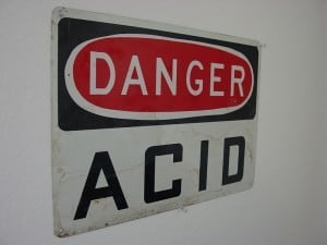 danger acid sign
