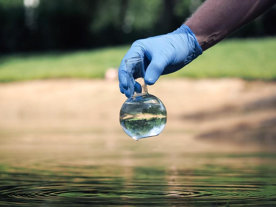 water sample in specimen jar