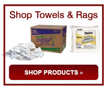 White or Blue Shop Towels & Rags Products