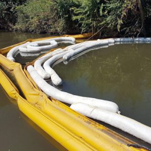 oil containment and oil absorbent booms