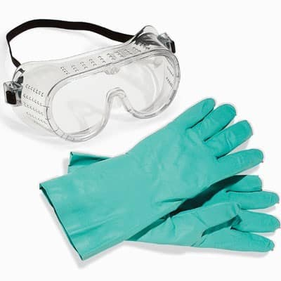 safety goggles and gloves